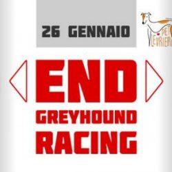 VEGLIE in concomitanza della protesta a Manchester contro il greyhound racing