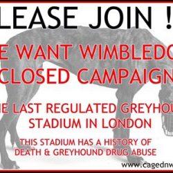 Vogliamo che sia chiuso il Cinodromo di WIMBLEDON – Scrivete.