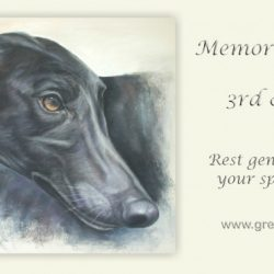 In memory of Rusty the greyhound.