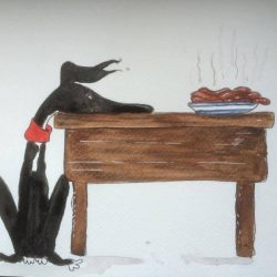 Greyhounds & Yoga by Nellie Doodles