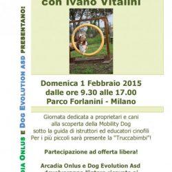 Mobility Dog con Ivano Vitalini – Domenica 1 febbraio – Parco Forlanini