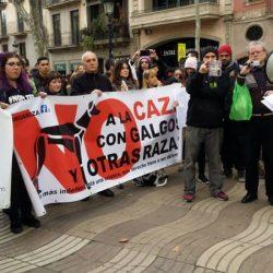 7 febbraio 2016 – Manifestazione contro la caccia in 15 città spagnole!