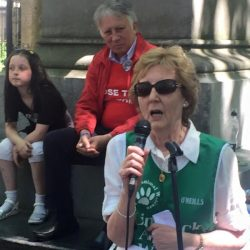 Limerick Animal Welfare founder and director Marion Fitzgibbon gives some solid facts in her speech in Dublin.