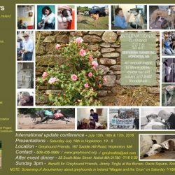 PET LEVRIERI ALLA CONFERENZA INTERNAZIONALE SUI LEVRIERI (GREY, GALGO e LURCHER), organizzata da Greyhound Friends – Boston, 15-17 luglio.