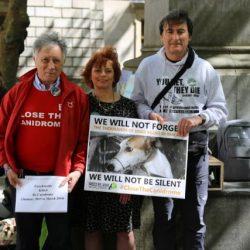 E' stato importante e bello esserci – Manifestazione internazionale a Dublino contro l'esportazione dei greyhound e per la chiusura del Canidrome di Macao