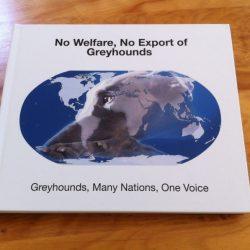 """Una copia del libro """"No Welfare, No Export of Greyhounds"""" sarà messo all'asta –  La vendita avrà inizio domani 29 luglio alle ore 14.00 e finirà il 5 agosto, a mezzanotte"""