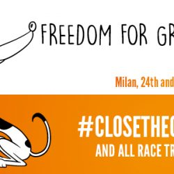 "Presentazione ""Freedom for Greyhounds – Close the Canidrome and all Race Tracks Worldwide"". 24 e 25 settembre, Cesate (Milano)."