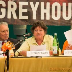 """Speech in Milan by Trudy Baker, founder and spokesperson of Greyt Exploitations, at our International Conference """"Freedom for Greyhounds"""""""