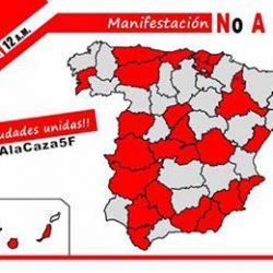 Domenica 5 febbraio 2017 – Manifestazione contro la caccia in Spagna