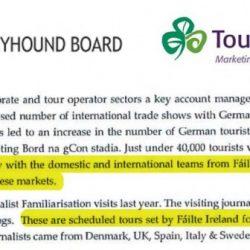 Inviate appello a Tourism Ireland e Failte Ireland per bloccare la promozione delle serate al cinodromo come attrattive turistiche!