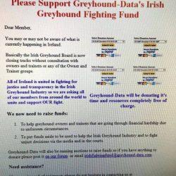Irlanda – l'Industria irlandese chiede di partecipare ad un fondo tutela per Trainers e proprietari di Greyhounds e per opporsi alla chiusura dei Cinodromi