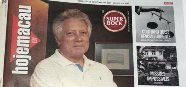 """Albano Martins votato """"Personalità dell'anno"""" da Hoje Macau"""