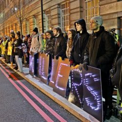 MORE THAN 300 ACTIVISTS AT GBGB AWARDS PROTEST 2018