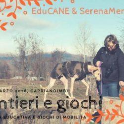 Sabato 31 marzo. Tra sentieri e giochi. Evento di EduCANE e SerenaMente Cane in collaborazione con Pet Levrieri.