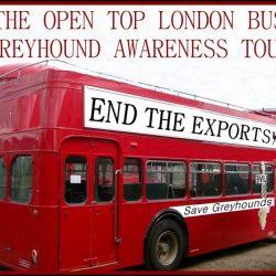 """ECCO L'AUTOBUS ROSSO LONDINESE: """"END THE EXPORTS"""" (fermiamo le esportazioni) TOUR!"""